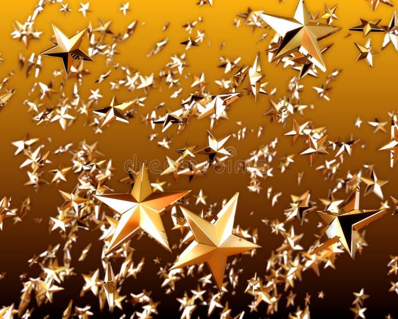 χρυσό αστέρι 3 διανυσματική απεικόνιση