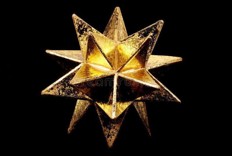 χρυσό αστέρι στοκ εικόνες