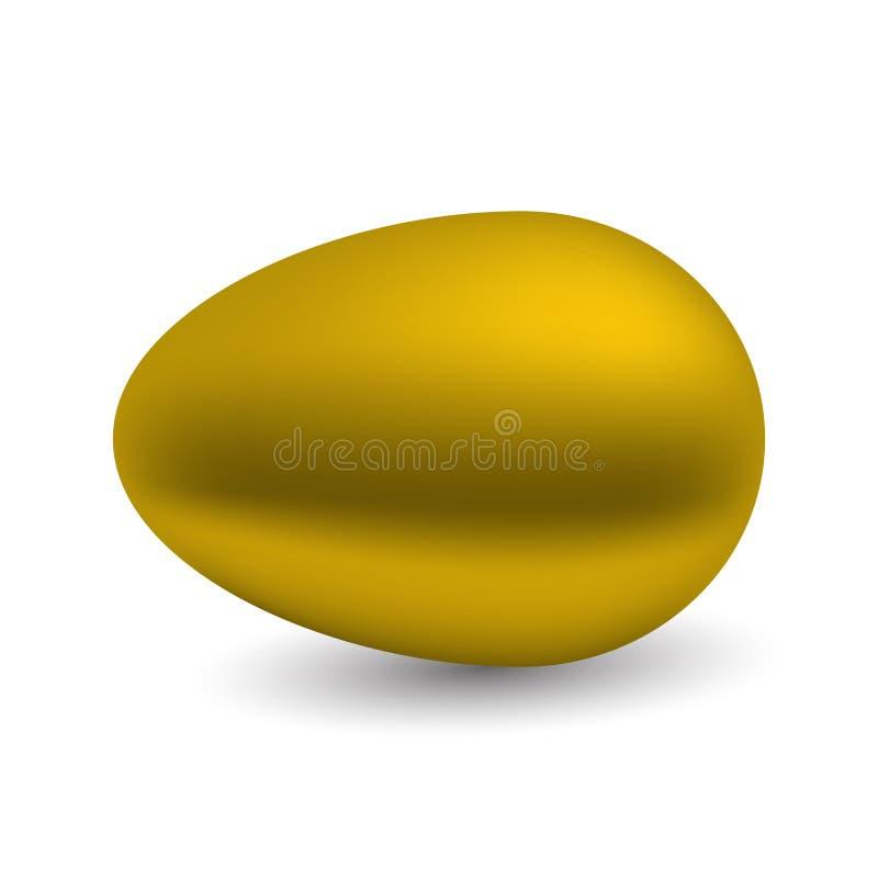 Χρυσό αυγό που απομονώνεται στην άσπρη ανασκόπηση επίσης corel σύρετε το διάνυσμα απεικόνισης απεικόνιση αποθεμάτων