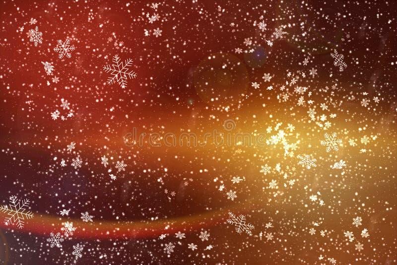Χρυσό αφηρημένο υπόβαθρο των Χριστουγέννων και του νέου έτους διάστημα αντιγράφων διανυσματική απεικόνιση