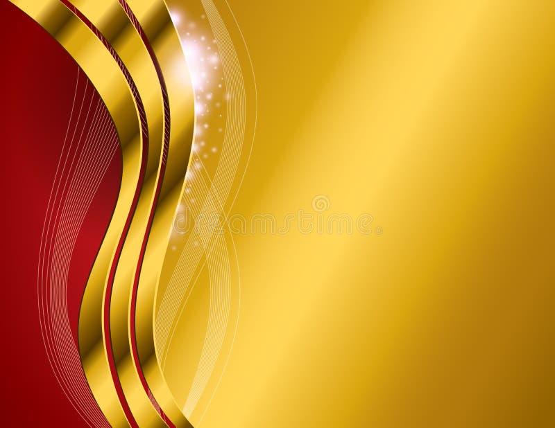 Χρυσό αφηρημένο υπόβαθρο ελεύθερη απεικόνιση δικαιώματος