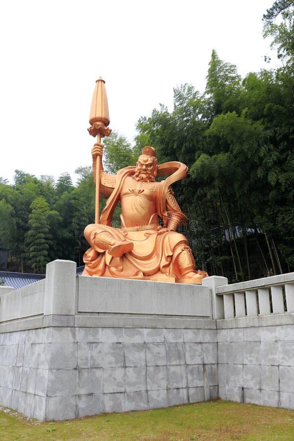 Χρυσό γλυπτό του King Kong βουδισμού, πλίθα rgb στοκ εικόνες