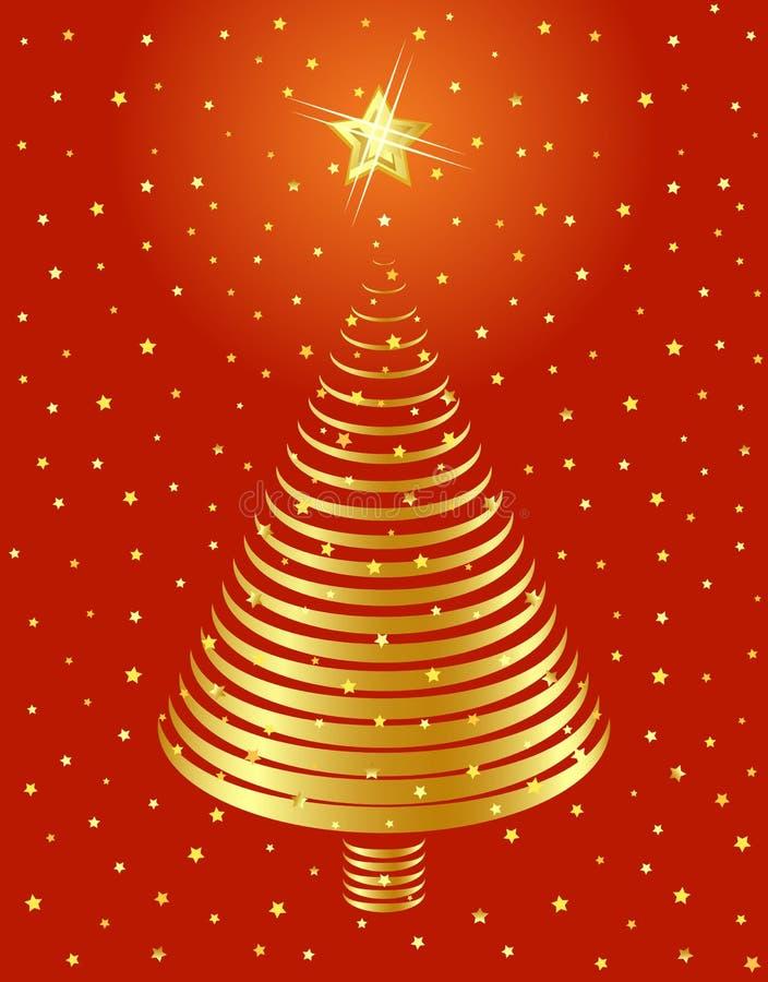 χρυσό δέντρο σχεδίου Χρι&sigm διανυσματική απεικόνιση