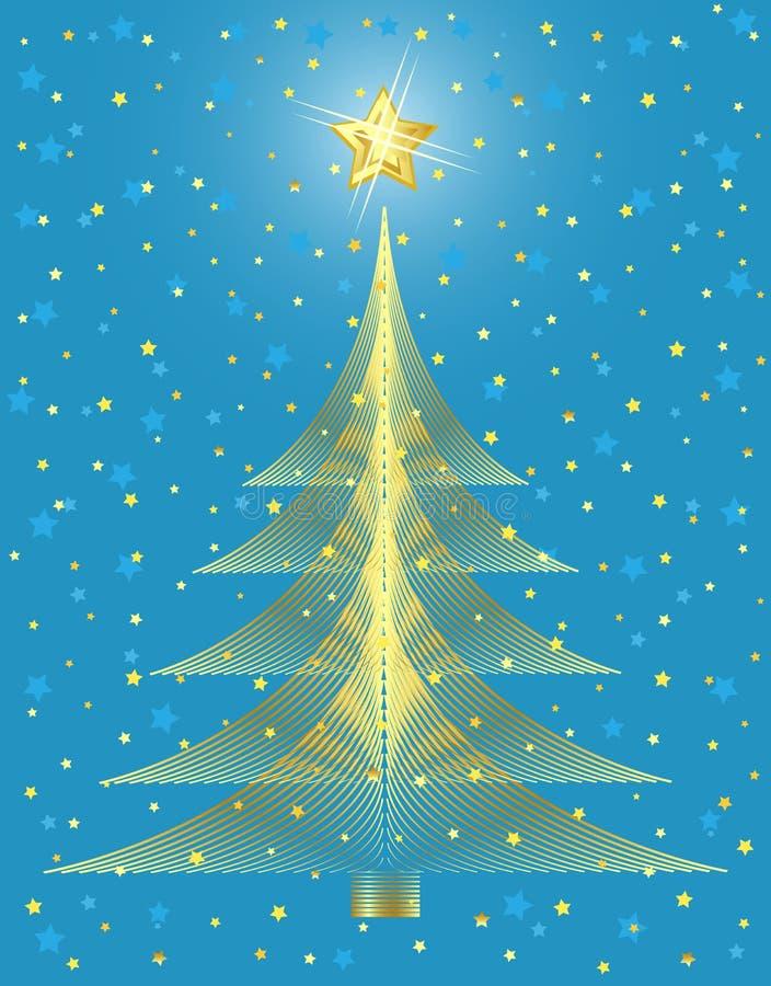 χρυσό δέντρο σχεδίου Χρι&sigm ελεύθερη απεικόνιση δικαιώματος