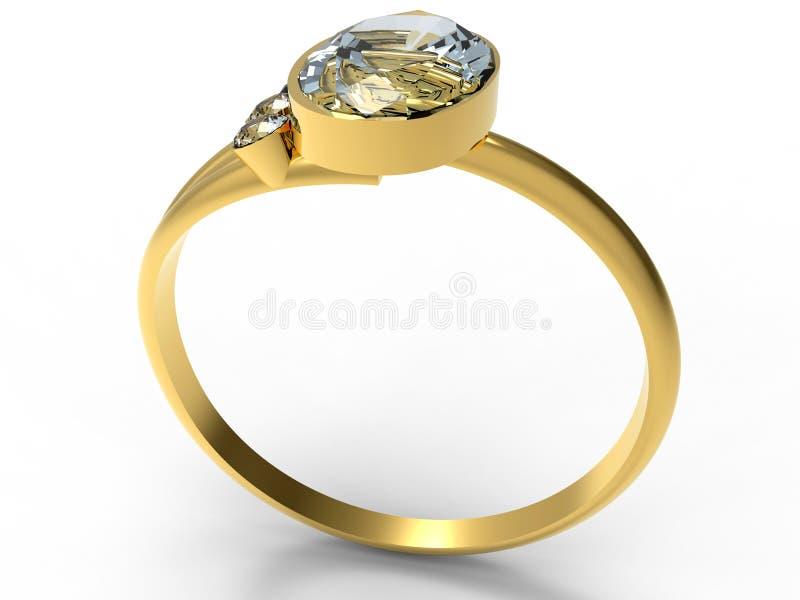 χρυσό δαχτυλίδι διαμαντι ελεύθερη απεικόνιση δικαιώματος