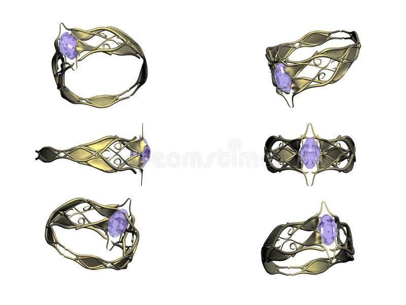 χρυσό δαχτυλίδι topaz στοκ φωτογραφία με δικαίωμα ελεύθερης χρήσης