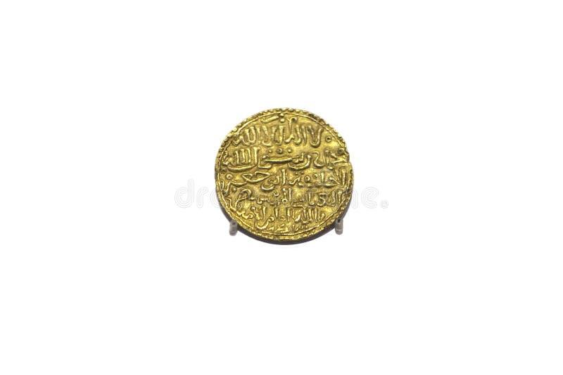 Χρυσό Δηνάριο Al-Wateq, βασίλειο του Murcia Taifa στοκ φωτογραφία