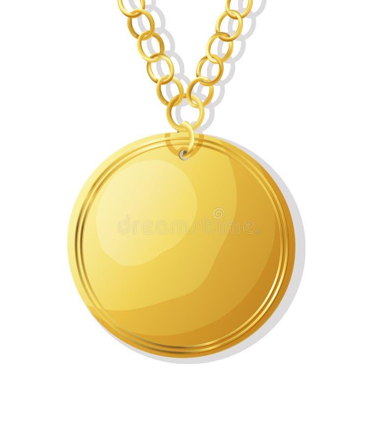χρυσό διάνυσμα μεταλλίων απεικόνιση αποθεμάτων