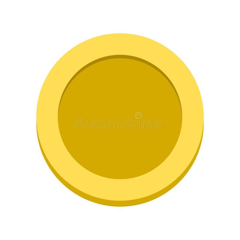 Χρυσό διανυσματικό εικονίδιο νομισμάτων, κενό εικονίδιο νομισμάτων απεικόνιση αποθεμάτων