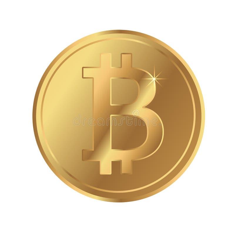 Χρυσό εικονίδιο νομισμάτων cryptocurrency Bitcoin blockchain ελεύθερη απεικόνιση δικαιώματος