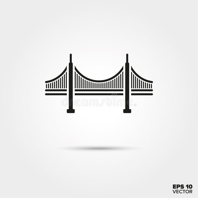 Χρυσό εικονίδιο γεφυρών πυλών απεικόνιση αποθεμάτων