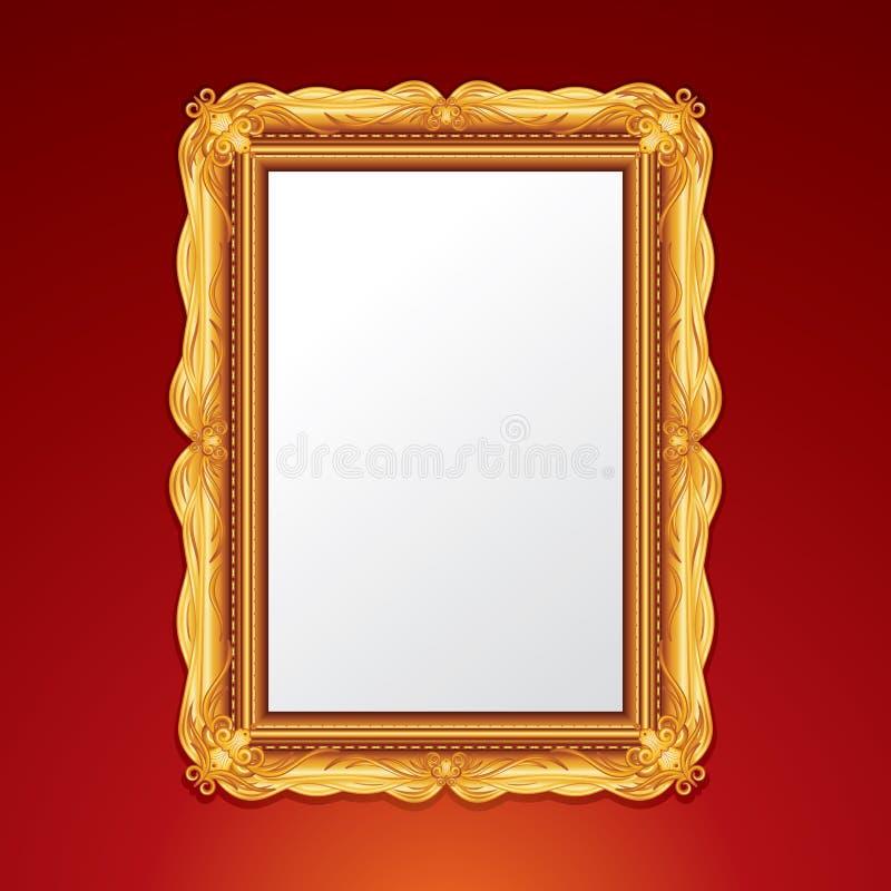 Χρυσό εκλεκτής ποιότητας πλαίσιο διανυσματική απεικόνιση