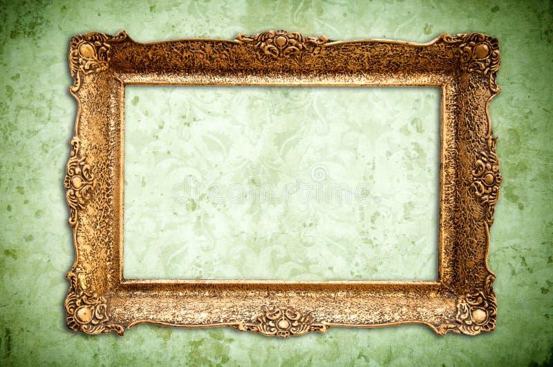 Χρυσό εκλεκτής ποιότητας κενό πλαίσιο στοκ εικόνες με δικαίωμα ελεύθερης χρήσης