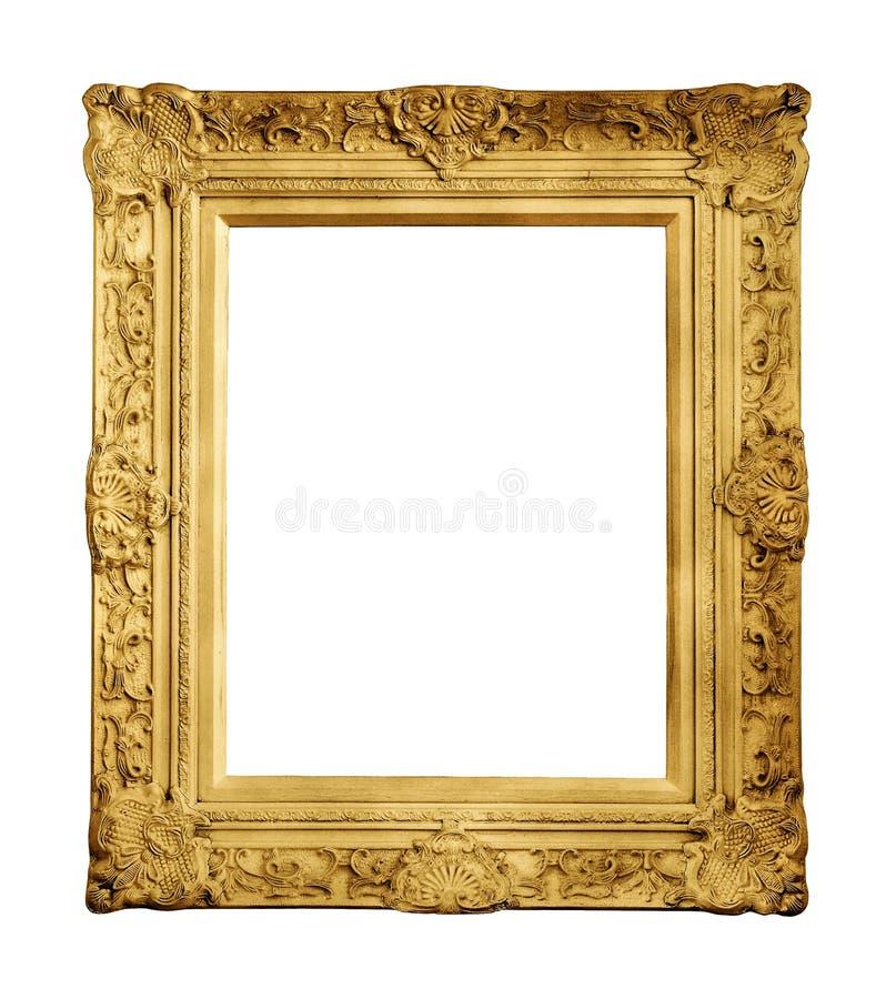 Χρυσό εκλεκτής ποιότητας πλαίσιο που απομονώνεται στοκ εικόνα με δικαίωμα ελεύθερης χρήσης