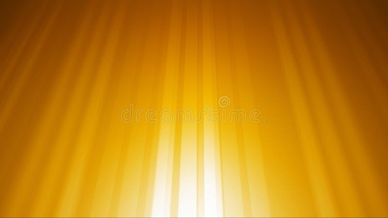 Χρυσό ελαφρύ υπόβαθρο ακτίνων ελεύθερη απεικόνιση δικαιώματος