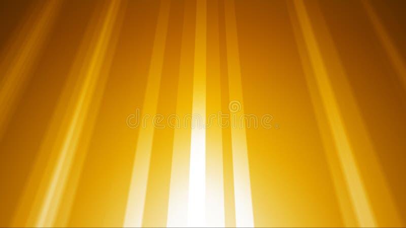 Χρυσό ελαφρύ υπόβαθρο ακτίνων διανυσματική απεικόνιση