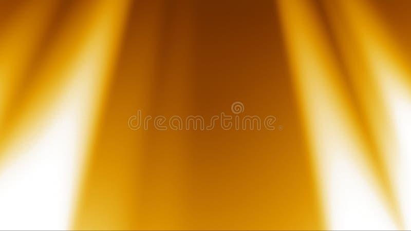 Χρυσό ελαφρύ υπόβαθρο ακτίνων απεικόνιση αποθεμάτων