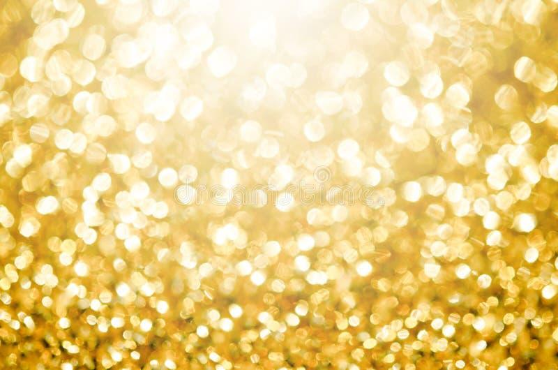 Χρυσό εορταστικό υπόβαθρο φω'των στοκ εικόνες