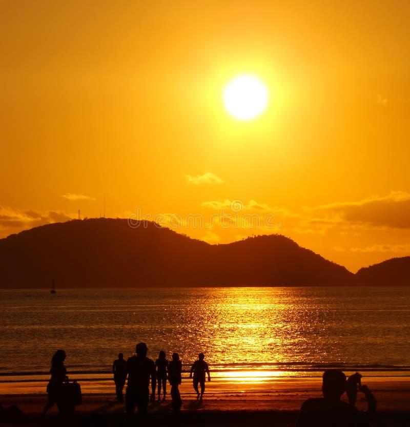 χρυσό ηλιοβασίλεμα ανθρώ στοκ φωτογραφίες με δικαίωμα ελεύθερης χρήσης