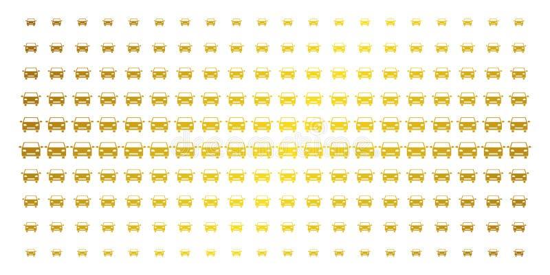Χρυσό ημίτονο πλέγμα αυτοκινήτων ελεύθερη απεικόνιση δικαιώματος
