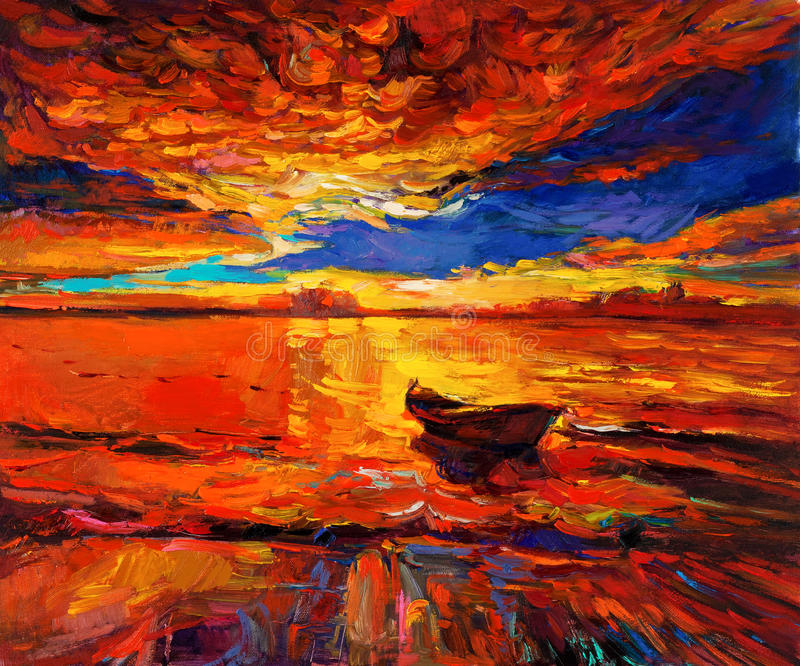 Χρυσό ηλιοβασίλεμα διανυσματική απεικόνιση