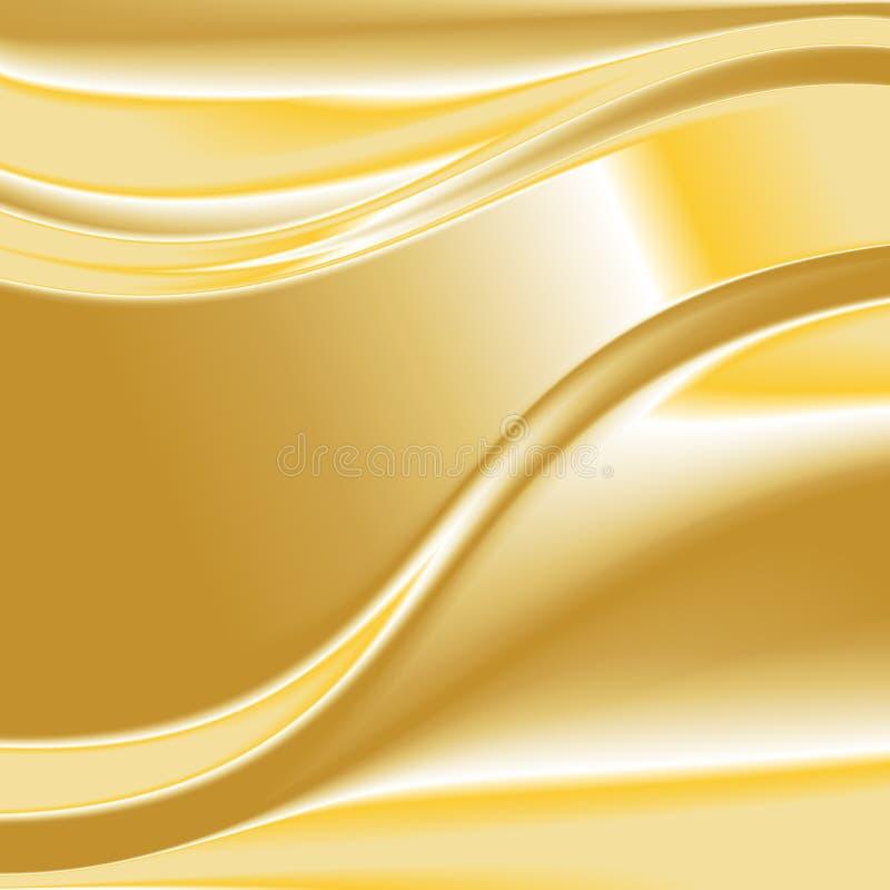 Χρυσό διάνυσμα 3 υποβάθρου ελεύθερη απεικόνιση δικαιώματος