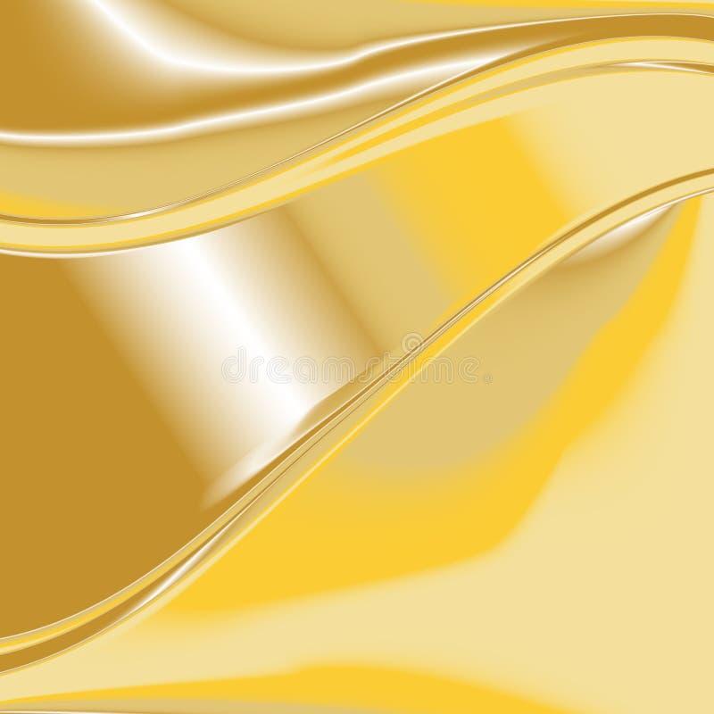 Χρυσό διάνυσμα 7 υποβάθρου ελεύθερη απεικόνιση δικαιώματος