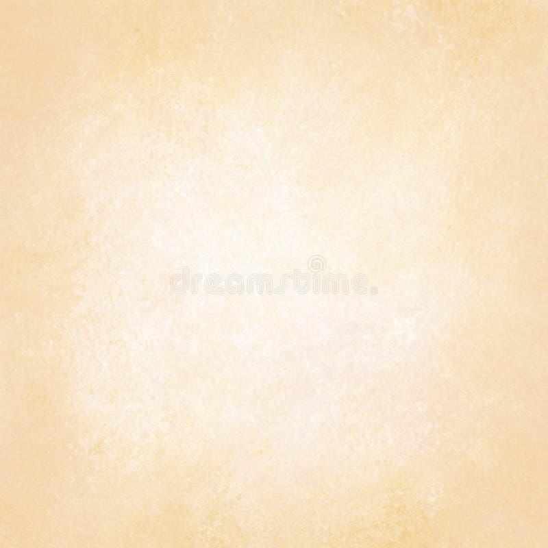 Χρυσό κίτρινο υπόβαθρο κρητιδογραφιών με το άσπρο κατασκευασμένο κεντρικό σχέδιο, μαλακό χλωμό μπεζ σχεδιάγραμμα υποβάθρου, παλαι στοκ εικόνες με δικαίωμα ελεύθερης χρήσης