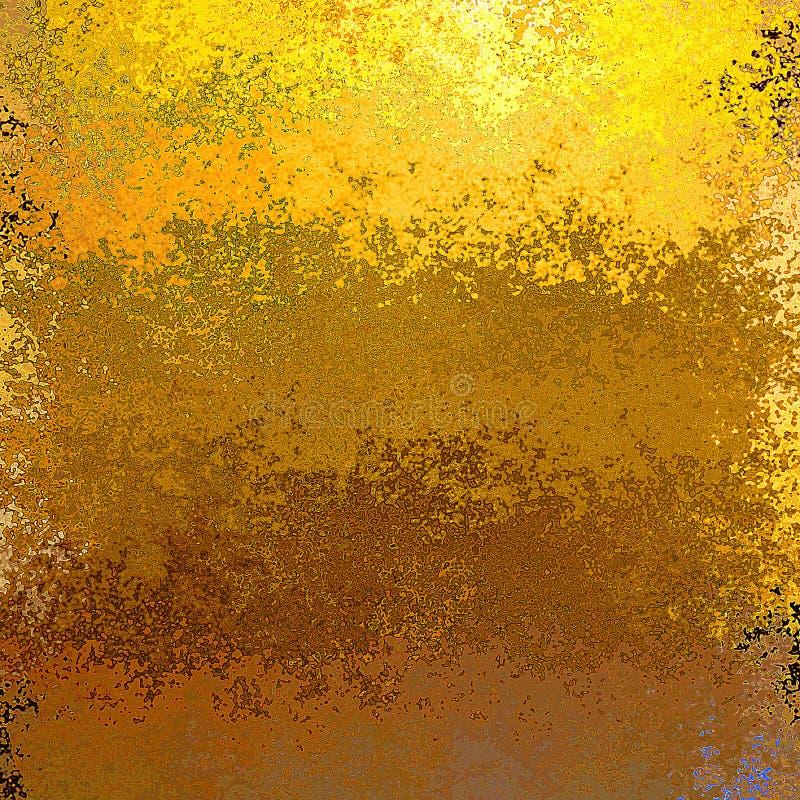 Χρυσό και καφετί αφηρημένο σκουριασμένο ξεφλουδίζοντας υπόβαθρο ελεύθερη απεικόνιση δικαιώματος