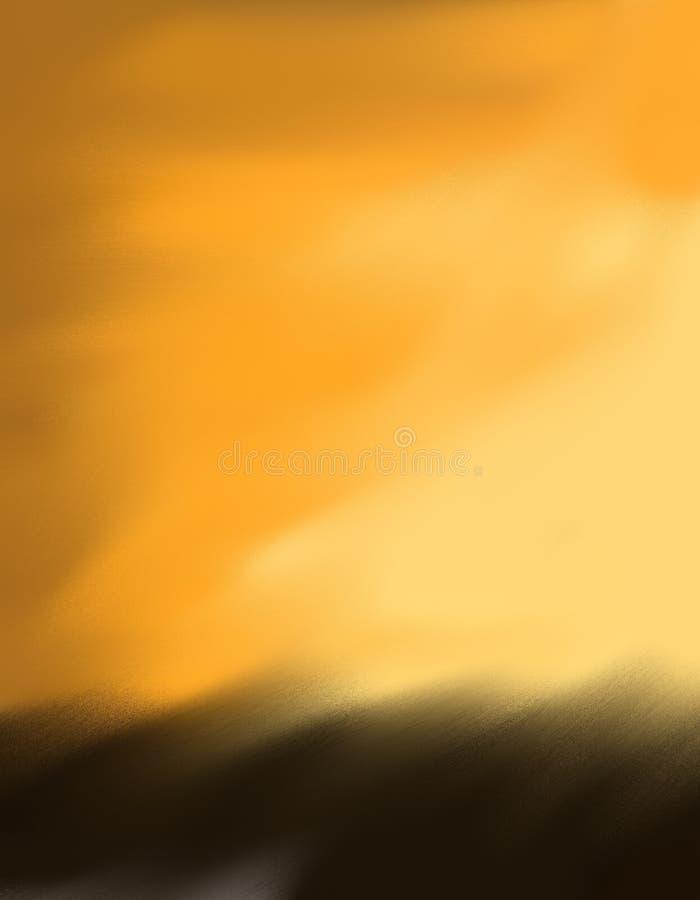 Χρυσό και καφετί θολωμένο υπόβαθρο στοκ εικόνα με δικαίωμα ελεύθερης χρήσης