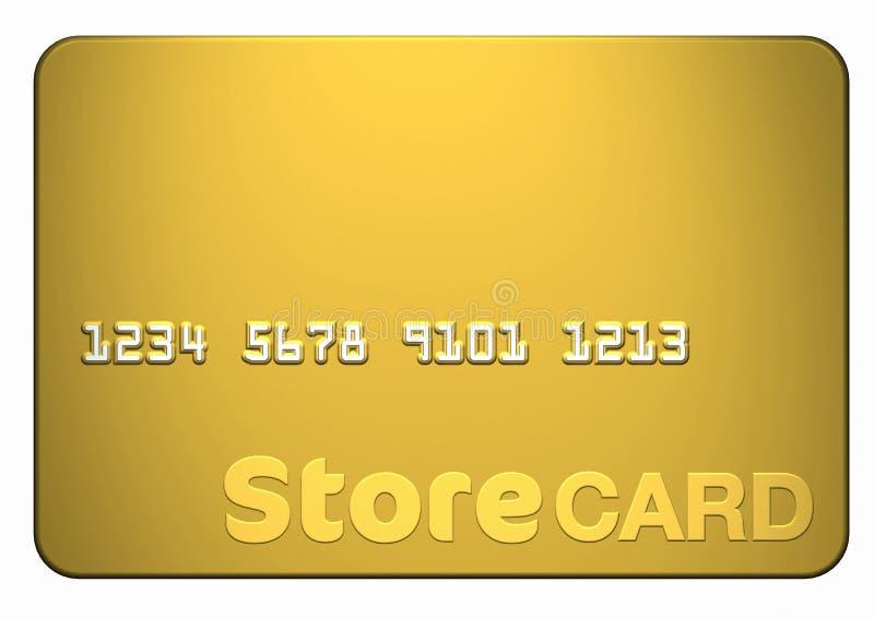 χρυσό κατάστημα καρτών διανυσματική απεικόνιση
