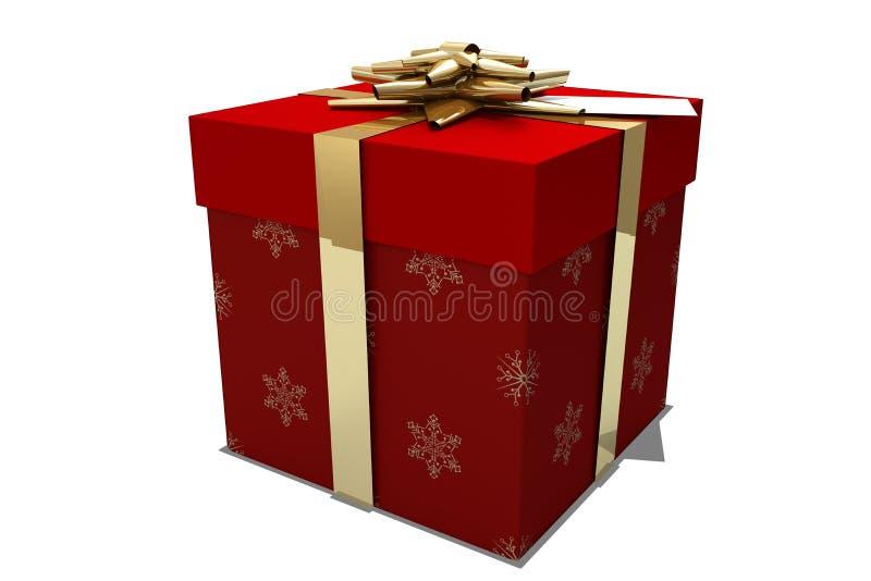 χρυσό κόκκινο δώρων Χριστ&omicro ελεύθερη απεικόνιση δικαιώματος