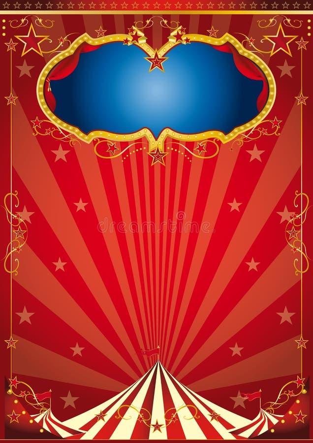 Χρυσό κόμμα τσίρκων διανυσματική απεικόνιση