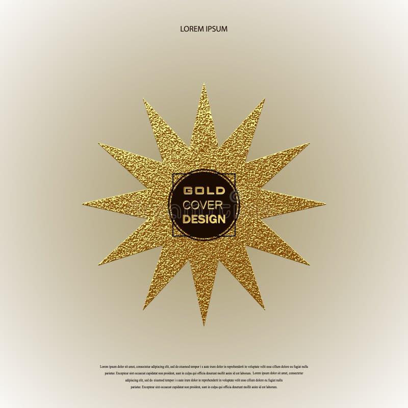 Χρυσό λογότυπο αστεριών Χρυσό λαμπρό σημάδι Διακριτικό πολυτέλειας ελεύθερη απεικόνιση δικαιώματος