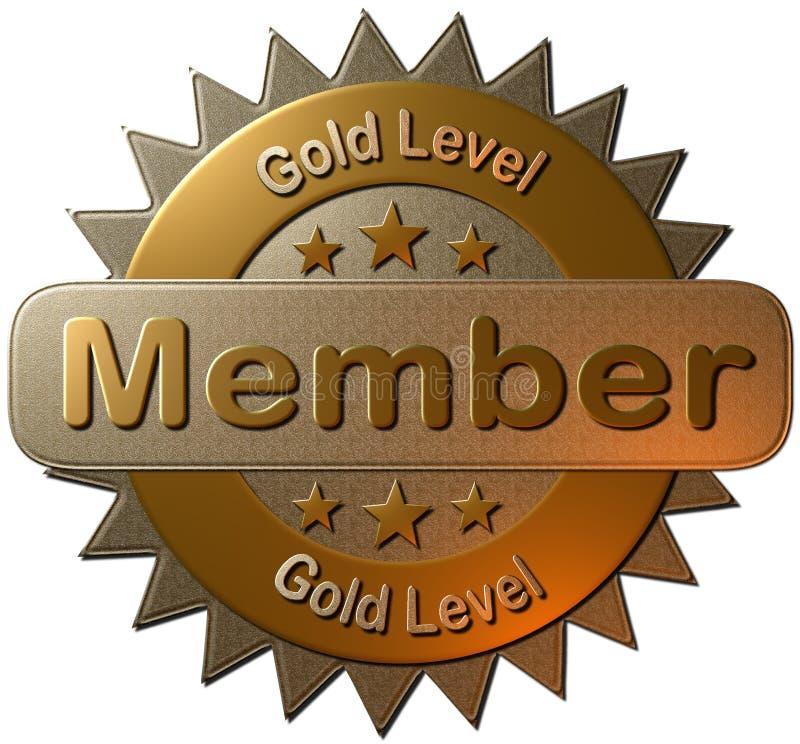 Χρυσό μέλος επιπέδων (σφραγίδα) απεικόνιση αποθεμάτων
