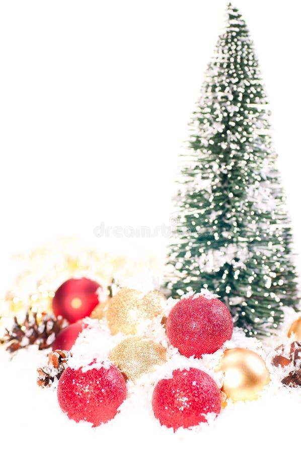 χρυσό μίνι κόκκινο δέντρο χι& στοκ φωτογραφία με δικαίωμα ελεύθερης χρήσης