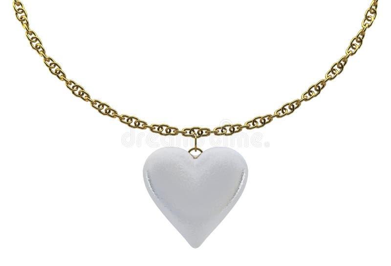 χρυσό μαργαριτάρι καρδιών &alph στοκ εικόνα με δικαίωμα ελεύθερης χρήσης