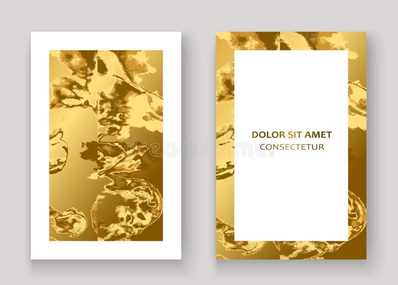 Χρυσό μαρμάρινο γραφικό σχέδιο υποβάθρου σύστασης αφηρημένο Χρυσός ακτινοβολήστε καθιερώνον τη μόδα διάνυσμα προτύπων σχεδίων απε διανυσματική απεικόνιση