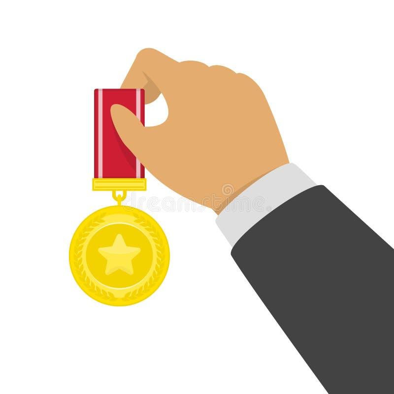Χρυσό μετάλλιο στη διάθεση ελεύθερη απεικόνιση δικαιώματος