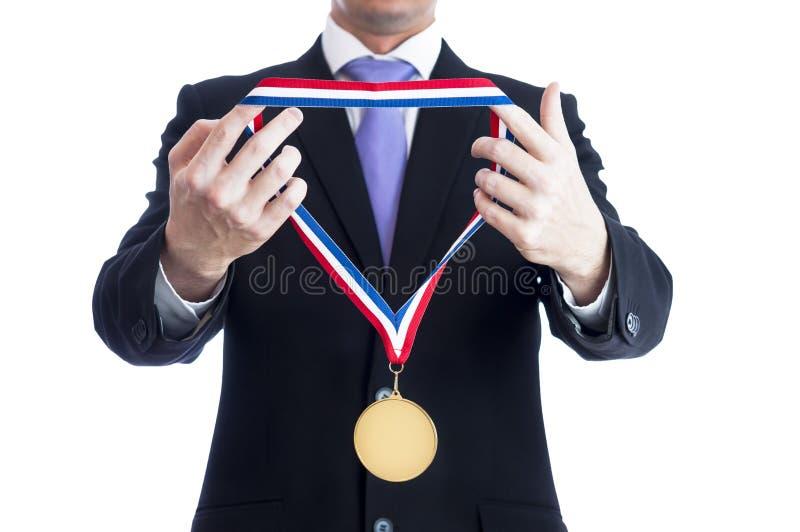 χρυσό μετάλλιο στοκ φωτογραφία με δικαίωμα ελεύθερης χρήσης