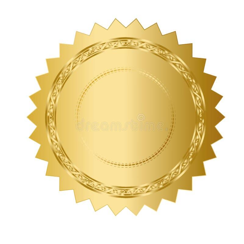 Χρυσό μετάλλιο διανυσματική απεικόνιση