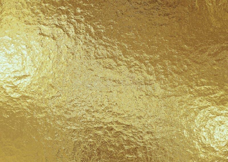 Χρυσό μεταλλικό υπόβαθρο, σύσταση λινού, φωτεινό εορταστικό υπόβαθρο στοκ φωτογραφία