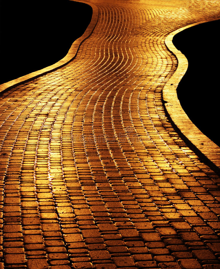 χρυσό μονοπάτι στοκ φωτογραφία