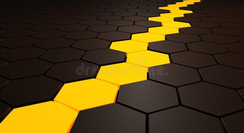 χρυσό μονοπάτι διανυσματική απεικόνιση