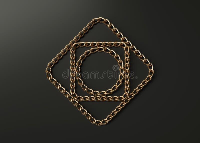 Χρυσό μοτίβο αλυσίδων στοκ εικόνες με δικαίωμα ελεύθερης χρήσης