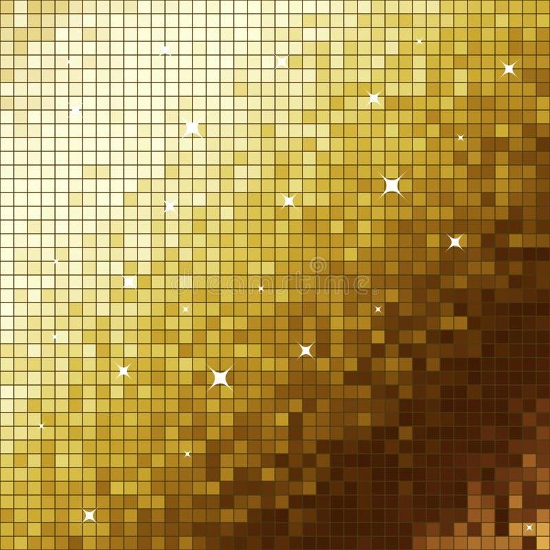 χρυσό μωσαϊκό ελεύθερη απεικόνιση δικαιώματος
