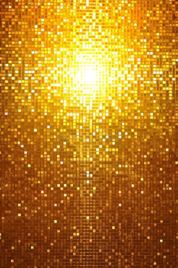 Χρυσό μωσαϊκό στοκ εικόνες