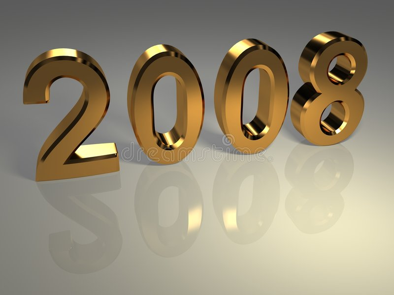 χρυσό νέο έτος ελεύθερη απεικόνιση δικαιώματος