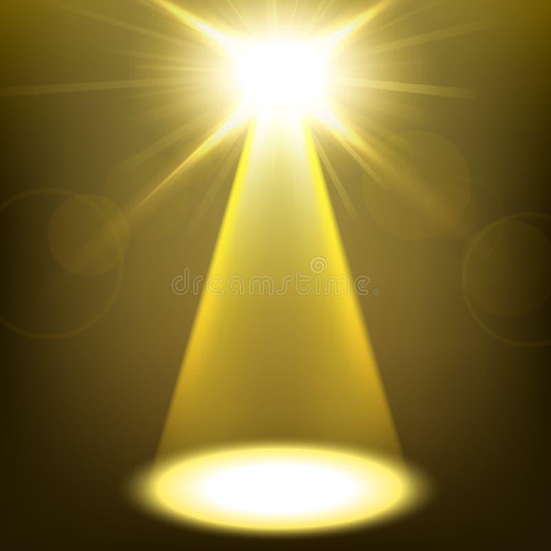 Χρυσό να λάμψει επικέντρων διανυσματική απεικόνιση