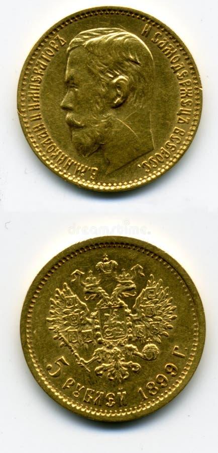 Χρυσό νόμισμα στοκ εικόνες